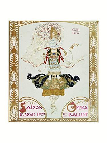 L. Bakst - Front page of the theatre programme Ballet Russes 1909 Print 60x80cm