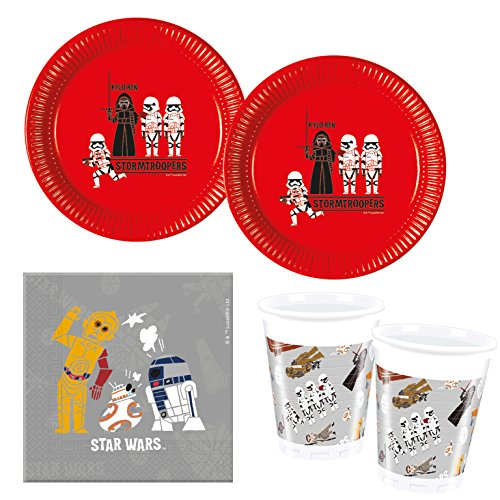 Procos 10118258 Partyset Star Wars Forces (Star Wars Party Set)