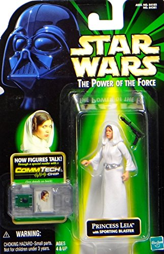 Hasbro Princess Leia with Sporting Blaster A New Hope - Star Wars Power of The Force Collection Kenner (Star Wars Emperor Kostüm)