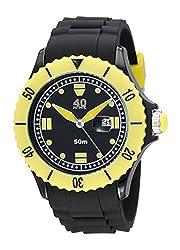40Nine Mens 40NINE01/BLACK50 Extra Large 50mm Analog Display Japanese Quartz Black Watch