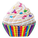 Intex - Colchoneta hinchable Cupcake, 135 x 142 cm (58770)