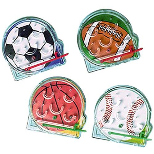 inth Kugelspiele, Sportball Muster, 12 Stk., Mehrfarbig (Halloween-papier-maske-muster)