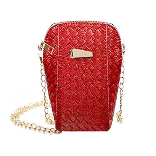 BZLine® Frauen Handy Tasche Schultertaschen Handtasche Kleine Body Bags, 13cm*6cm*17cm (Rot) (Handtasche Bag Body)