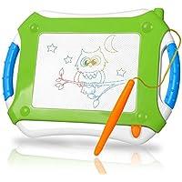 TTMOW Pizarras Mágicas Colorido con Pluma, Almohadilla Borrable de Escritura y Dibujo, Juguetes Educativos para niños 2 años 3 años 4 años (Verde)