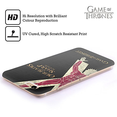 Offizielle HBO Game Of Thrones Stark House Mottos Soft Gel Hülle für Apple iPhone 7 / iPhone 8 Bolton