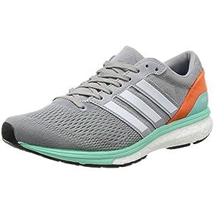 adidas Adizero Boston 6, Zapatillas de Running para Mujer, Gris (Mid Grey/ftwr White/easy Orange), 38 EU