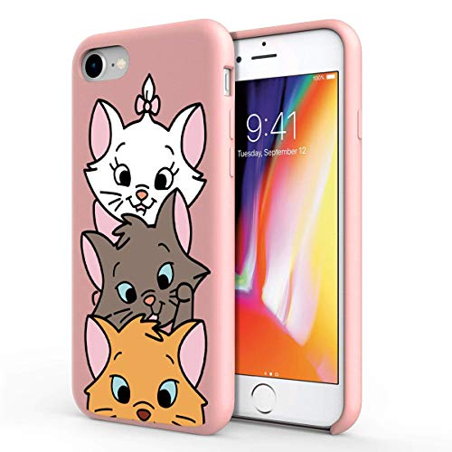 ZhuoFan Funda Xiaomi Mi A1, Cárcasa Silicona Rosa con Dibujos Diseño Suave Gel TPU Antigolpes de Protector Piel Case Cover Bumper Fundas para Movil Xiaomi MiA1, 3 Gato