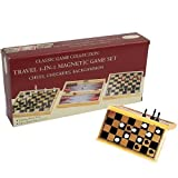 3-in-1 Magnetic Game Set, One Color
