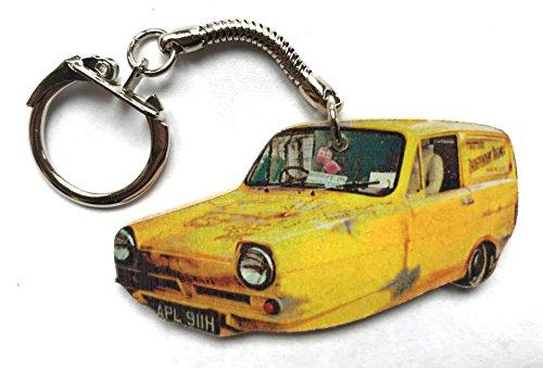 Only Fools Keyring - Reliant Regal Van Keyring - Hand Cut Wooden