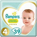 Pampers Premium Protection Taille 4, 39 Couches, 9kg-14kg