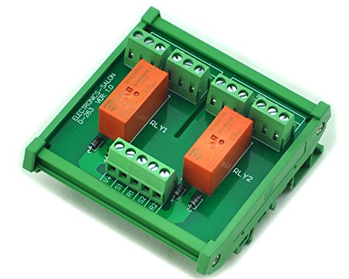 Electronics-Salon Montage sur rail DIN Passif bistable / à verrouillage 2 Module de relais de puissance DPDT 8A, 24V Ver.