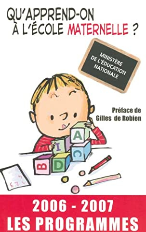 Ministere De L Education Nationale - Qu'apprend-on à l'école maternelle ? : Les