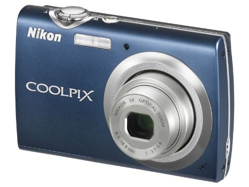Nikon Coolpix S230 Digitalkamera (10 Megapixel, 3-Fach optischer Zoom, 7,6 cm (3 Zoll) Display) blau (Kamera S230 Coolpix Nikon)