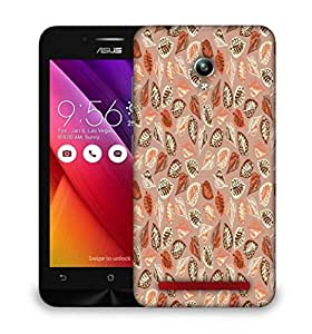 Snoogg Abstract Leaves in Cream Designer Protective Phone Back Case Cover for Asus Zenfone Go