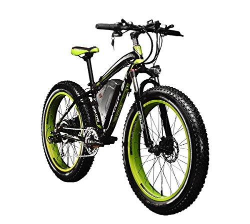 Rich Bit® RT-012 1000 W E-Bike eBike Cruiser Fahrrad Radfahren 48 V 12 Ah hohe Kapazität Akku 21speed 7 Gänge Federgabel Doppel Mechanische Bremse, 4.0 Fat Tire Snow Bike Shimano Umwerfer Lange dauert, New Fashion Malerei