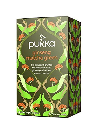 PUKKA Bio Ginseng Matcha Green Tee, 1er Pack (20 x 1,5 g Teebeutel) - BIO