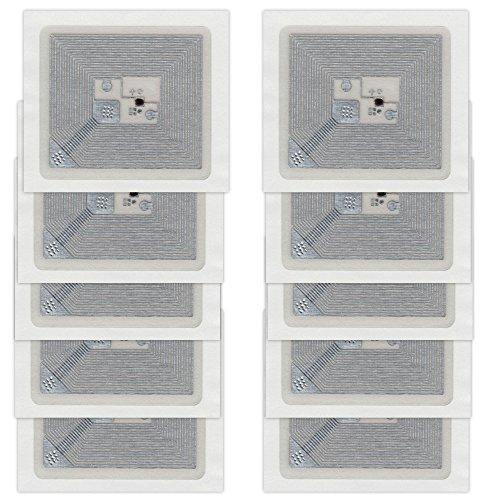 10 NFC Tags Sticker Kovio 2K | 230 Byte | 24x27mm | transparent