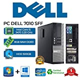 PC DELL 7010 SFF Intel Core i5 3470 3.20Ghz/RAM 8GB/500GB/DVD+RW/Win 10 Pro (reacondicionado)