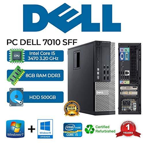 PC DELL 7010 SFF Intel Core i5 3470 3.20Ghz/RAM 8GB/500GB/DVD+RW/Win 10 Pro (reacondicionado)
