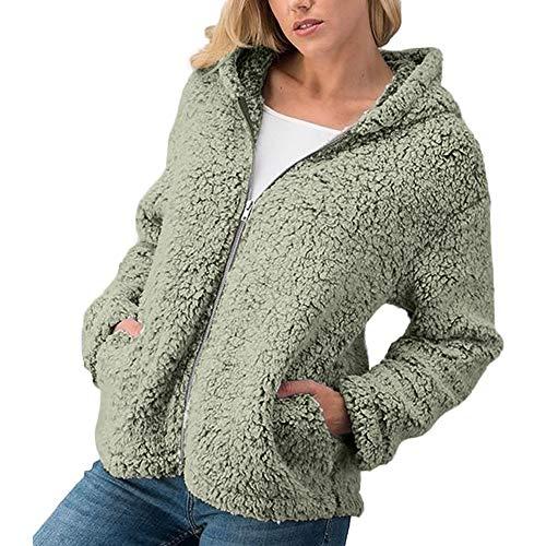 MIRRAY Damen Winter Mäntel Lässig Warm Zipper Jacke Solid Outwear Mantel Armee Grün Kaffee Rosa Khaki Grau S/M / L/XL