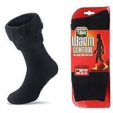 JARSEEN Warme Winter Thermosocken mit Vollplüsch und Wolle Dicke Weiche Stiefel Socken Damen Herren (Schwarz, L/Mens 39-45; Womens 40-45)