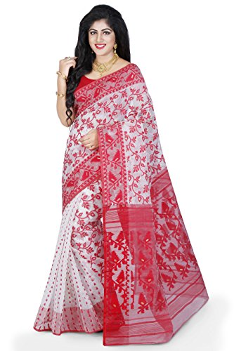 Wooden Tant Women's Silk Cotton Saree (Dj10_Multicolor)