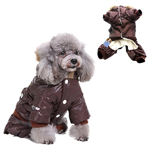 Manteau pour Chien Chaud Impermeable USA Air Vetement Manteau Doudoune Combinaison Design de 4 Pattes pour Chien