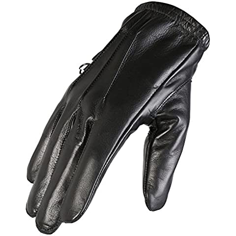morbidi guanti di pelle nera con fodera in Kevlar DuPont
