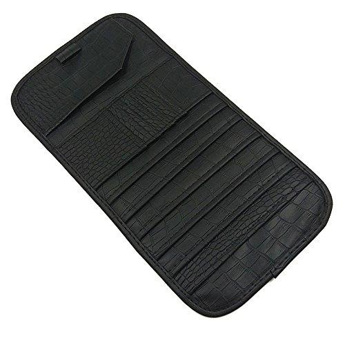 7-Pocket CD Visor Organizer Car Multi-Zwecke Storage Holder mit Karten Taschen, CD Taschen, Pen Halter (Schwarz)