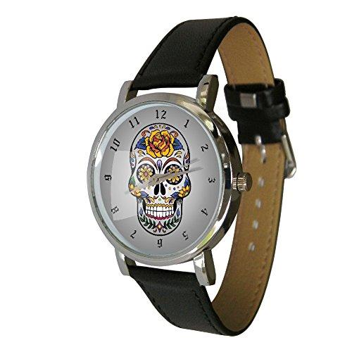 mexican-sugar-skull-armbanduhr-sugar-skull-zeichnen-tag-der-toten-totenkopf-bild-tattoo-bild