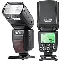 K&F Concept KF-885 Speedlite Flash para Cámara Canon Nikon compatible con TTL Sincronización de Alta Velocidad Inalámbrica Esclavo y Maestro