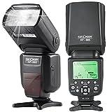 K&F Concept® TTL KF-885 Universal Blitz Blitzgerät Blitzlicht für Canon und Nikon Kamera mit HSS 1/8000s Masterblitzfunktion Leitzahl 58