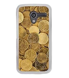 YuBingo Motorola Moto X :: Motorola Moto X (1st Gen) XT1052 XT1058 XT1053 XT1056 XT1060 XT1055 2D Designer Phone Back Case Cover ( Euro Cent Coins )