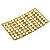84 x Antirutsch Pads aus EPDM/Zellkautschuk | rund | Ø 12 mm | Weiß | selbstklebend | Rutschhemmende Pads inTop-Qualität (2.5 mm)