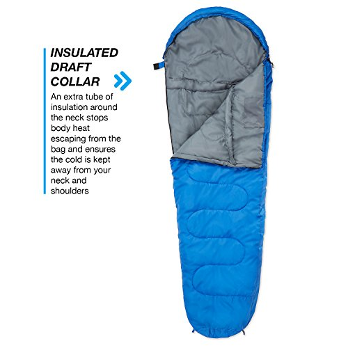 Professional 300 Mummy Sleeping Bag 3-4 Season for Camping, Hiking, Outdoors