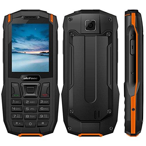 """Outdoor Handy Ohne Vertrag, 2018 Ulefone Armor Mini 2G GSM 2.4"""" QVGA,240*320, IP68 Wasserdicht Stoßfest Staubdicht, MTK6261D 32MB RAM+32MB ROM Dual SIM Dual Standby 2500mAh 0.3MP LED Taschenlampe Headset-frei FM Radio Rugged Phone für Senioren und Adventures(Orange)"""