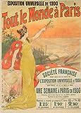 Vintage Travel Frankreich für die 1900Paris Exposition Steckern 250gsm, Hochglanz, A3, vervielfältigtes Poster