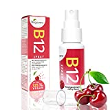 Vitamina B12 Spray Vegavero | Integratore di Vitamina B12 Vegana - Spray gusto Ciliegia | Assorbimento immediato - Forma Attiva |...
