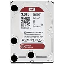 """WD Red - Disco duro para dispositivos NAS de sobremesa de 3 TB (Intellipower, SATA a 6 Gb/s, 64 MB de caché, 3,5"""") rojo"""