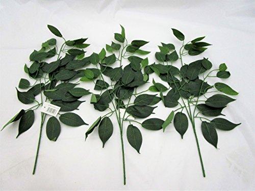 3Stück Künstliche Ficus Zweig Mit Blättern–59cm–Deko Zweige