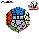 Capa de 12color Megaminx velocidad Cubo Puzzle, Megaminx cerebro Teaser mágico cubo velocidad de Rubik Puzzle Toy multicolor
