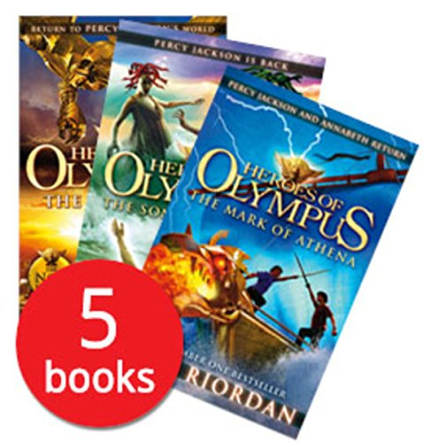 Heroes of Olympus x5 shrinkwrap set por Rick Riordan