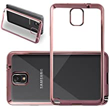Cadorabo - Cubierta protectora para Samsung Galaxy NOTE 3 (N9006) de silicona TPU en diseño Cromo - Case Cover Funda Carcasa Protección en Transparente con CROMO-ORO-ROSA