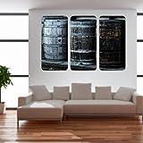 malango® Vintage Whiskyfässer Triptychon Wandtattoo Tattoo Auto Dekoration Styling Design Aufkleber Fass Whiskey 80 x 122 cm digitalgedruckt digitalgedruckt 80 x 122 cm