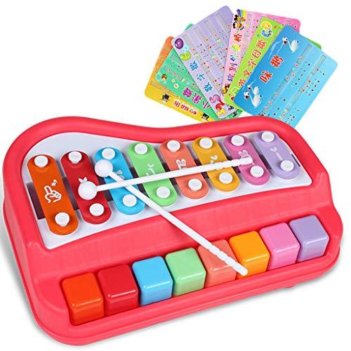 Luccase Kinder 2-in-1-Xylophon Acht-Ton-große hölzerne Klavierkindermusik-pädagogische Spielwaren der frühen Ausbildung Für Ihr Mini-Musikspielzeug (C) -