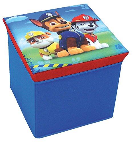 *FUN HOUSE 712538 Pat'Patrouille Tabouret de Rangement Polyester Bleu 31 x 31 x 29 cm Acheter en ligne
