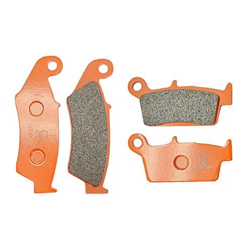 Lefossi moto anteriore e posteriore fibra di carbonio pastiglie freno per Hondaa XR 250 400 600 650 CR 250 500 CRF 230 CRM 250 XL 230 NX4 FA185F FA131R