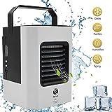 Mini Air Refroidisseur ,2019 Nouveau Mini Climatiseur,4 EN 1 Mini Climatiseur/Humidificateur/Purificateur/Fan,d'pour chambre, bureau, maison d'extérieur (Blanc)