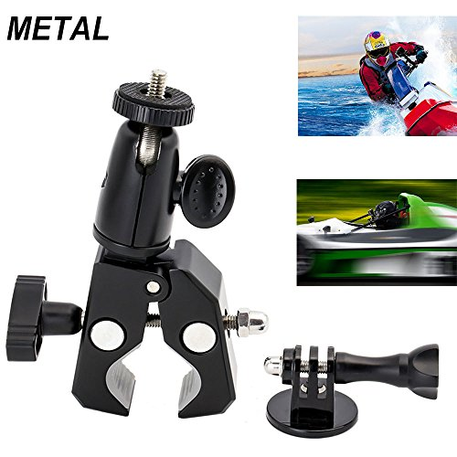 EXSHOW Soporte for GoPro, Soporte Camera para Moto Bike Manillar, Universal for...