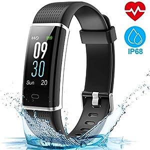 HOMSCAM Pulsera Actividad, Pulsera Inteligente Pantalla Color Reloj Impermeable